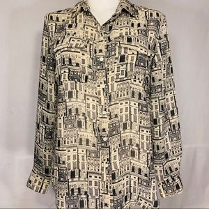 Banana Republic city building blouse